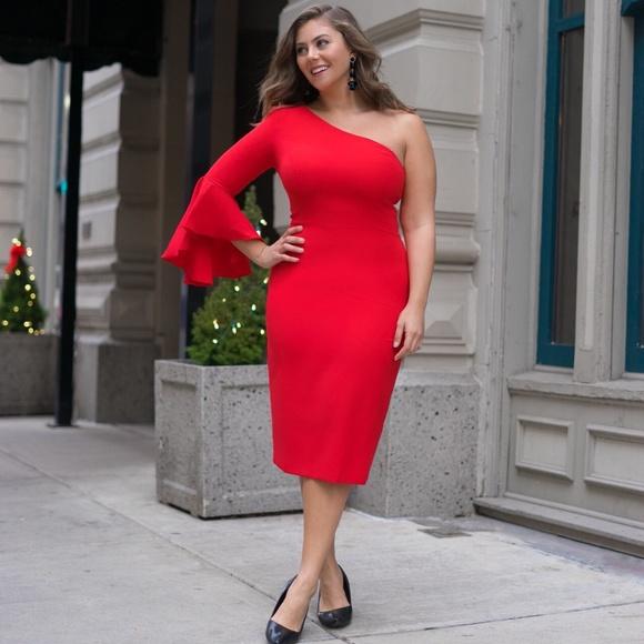 0bf68bd8 Maggy London Dresses | Mackenna One Shoulder Midi Dress | Poshmark